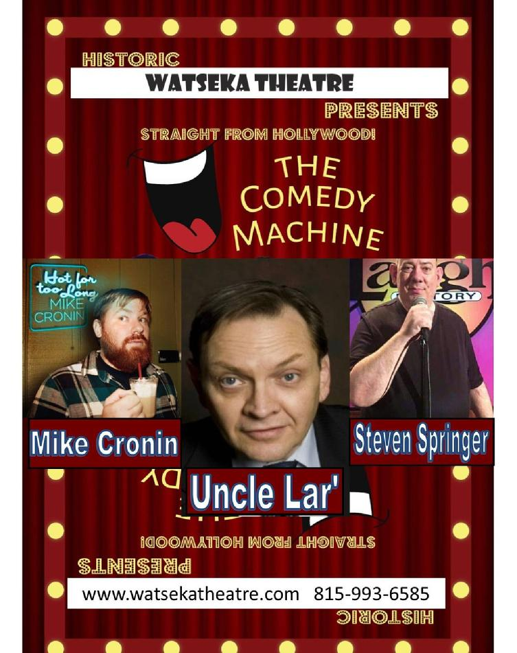comedy machine, watseka theatre, live entertainment